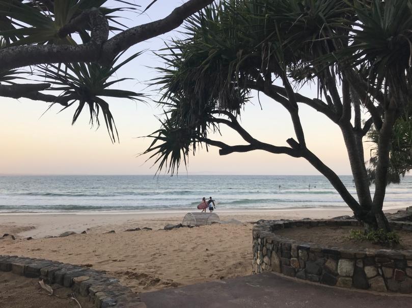 Noosa Heads beach Queensland Australia running surfing
