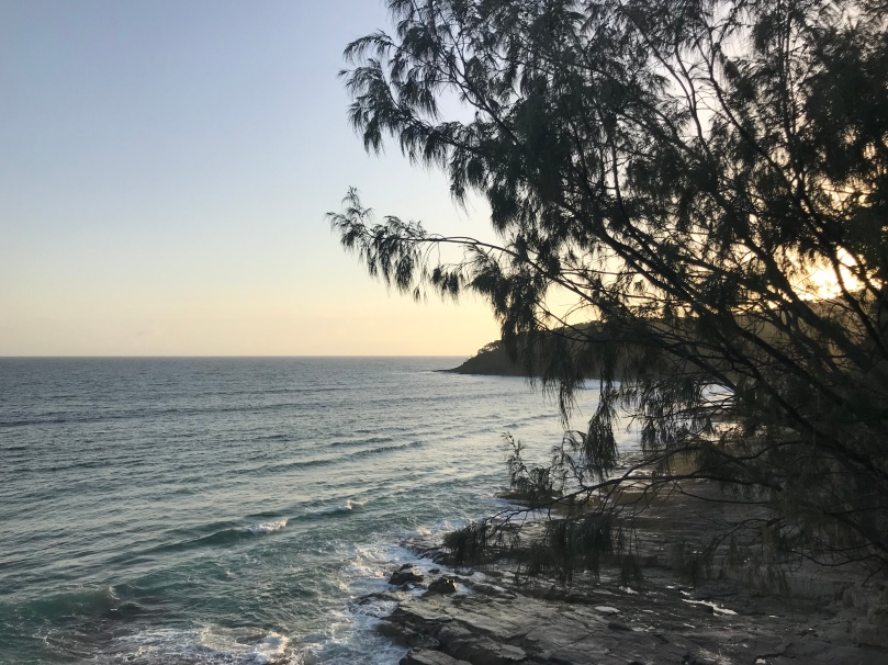 Boiling Pot Noosa National Park running walking trail view Queensland Australia trees beach ocean