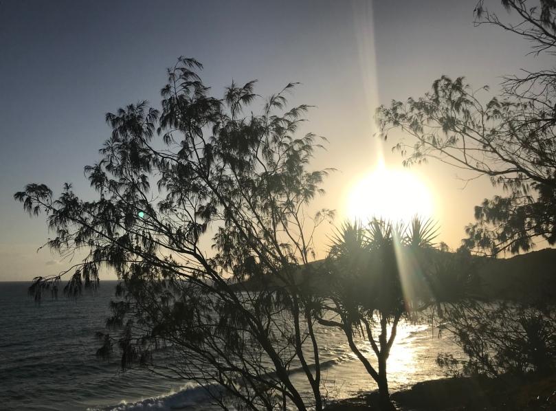Dolphin Point Sunrise Noosa National Park running walking trail view Queensland Australia trees beach ocean