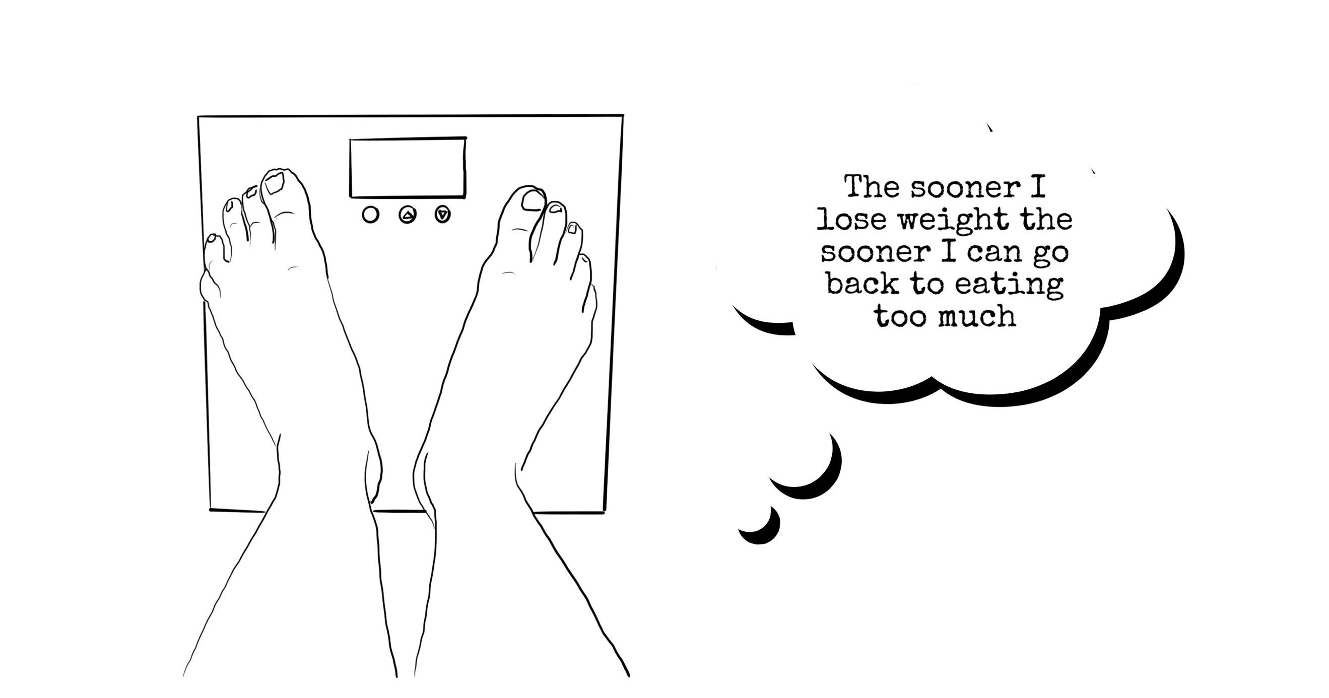 fast weight loss, weight gain, crash diet, yo-yo dieting, binge, serial starter, biggest loser,