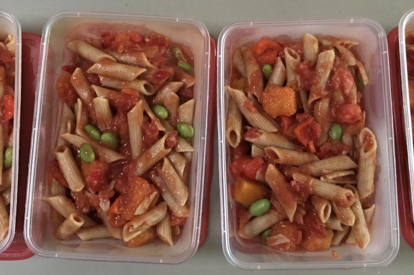 Vegan, Recipe, Pulse Penne Pasta, Aldi, peas, chickpeas, borlotti beans, lentil flour, pumpkin, edamame, tomato, red capsicum, chilli, vegan cheese, hangry